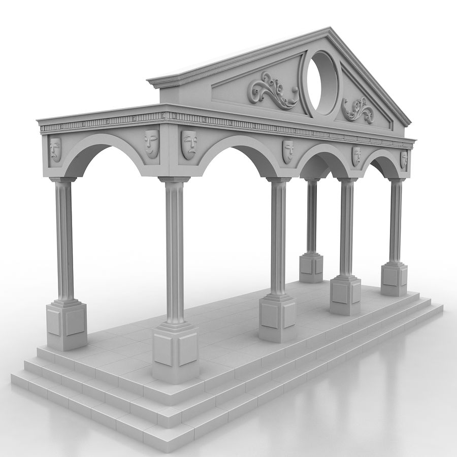 Entry Building Element royalty-free 3d model - Preview no. 2