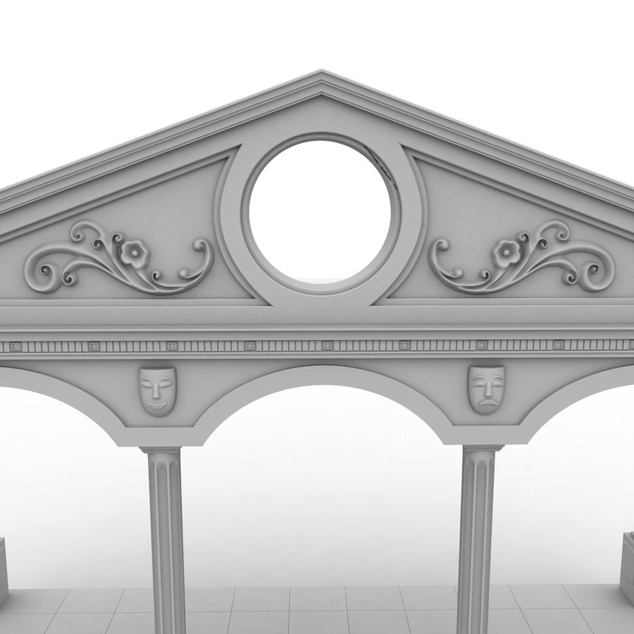 Entry Building Element royalty-free 3d model - Preview no. 6