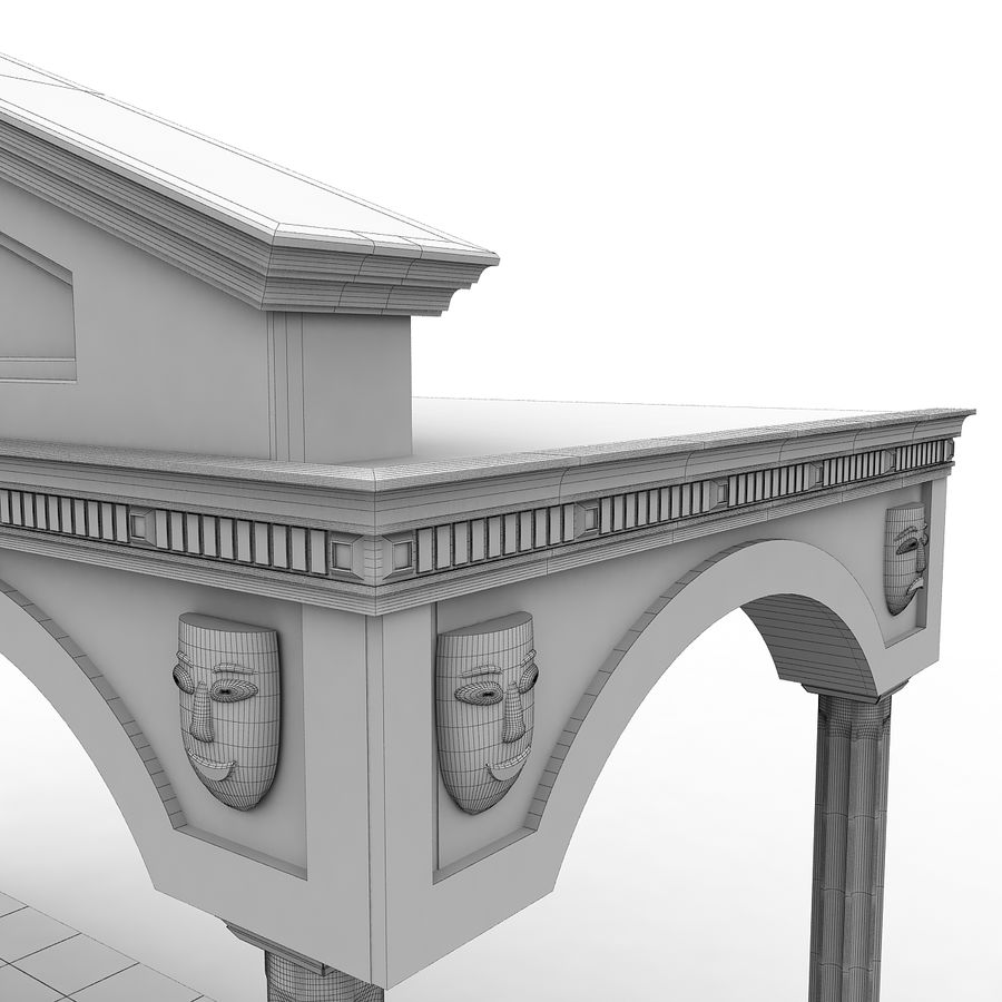 Entry Building Element royalty-free 3d model - Preview no. 9