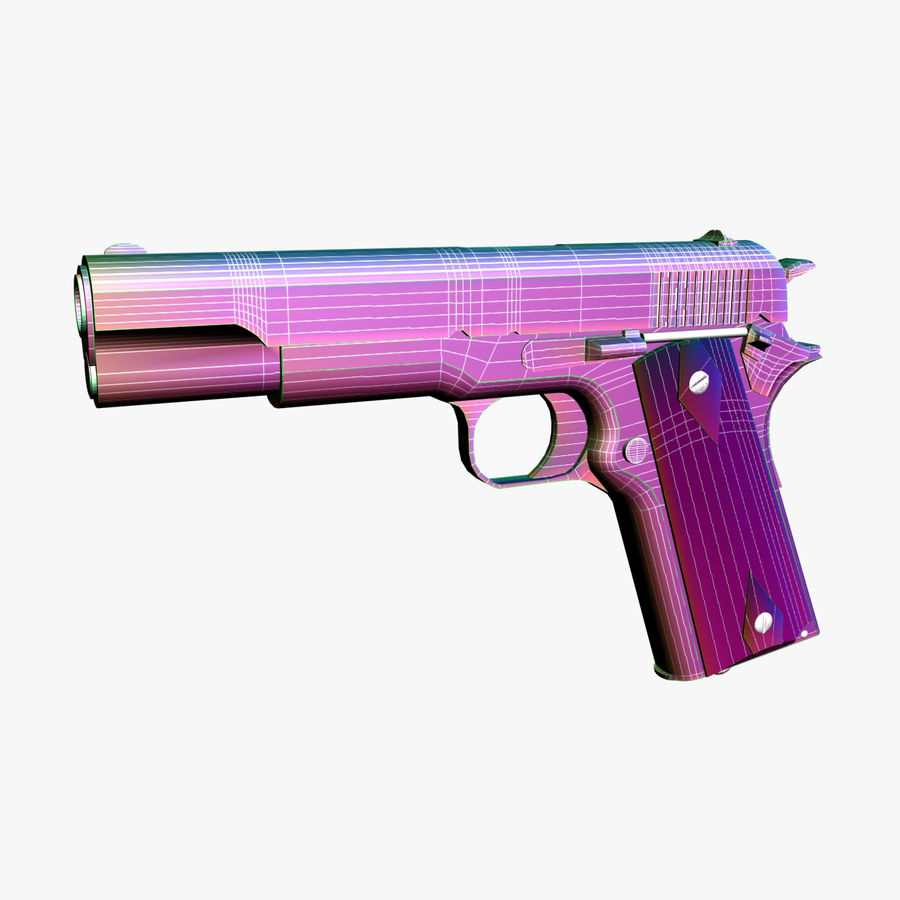 Colt 1911 Pistool royalty-free 3d model - Preview no. 12
