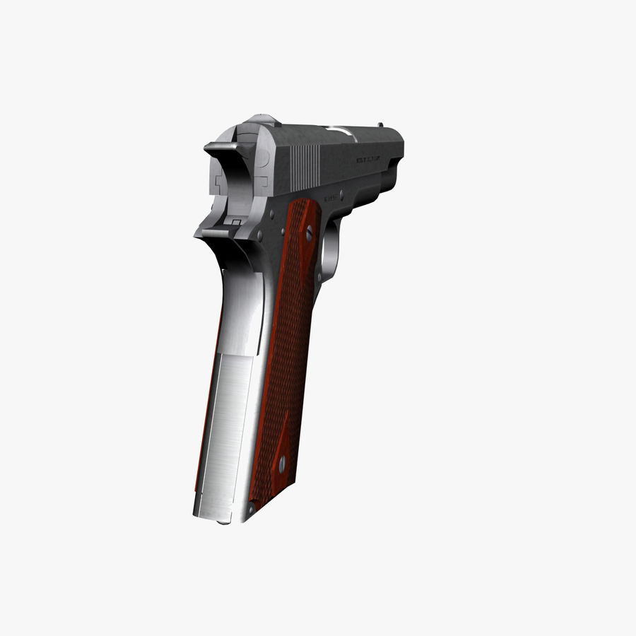 Colt 1911 Pistool royalty-free 3d model - Preview no. 6