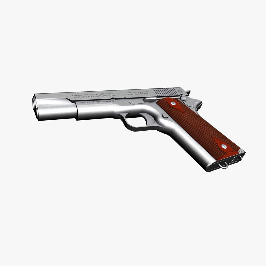 Colt 1911 Pistool royalty-free 3d model - Preview no. 5