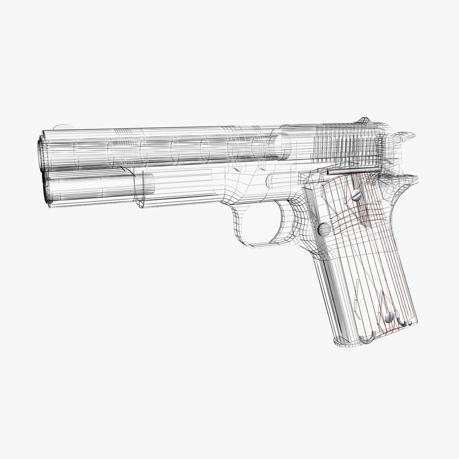 Colt 1911 Pistool royalty-free 3d model - Preview no. 9