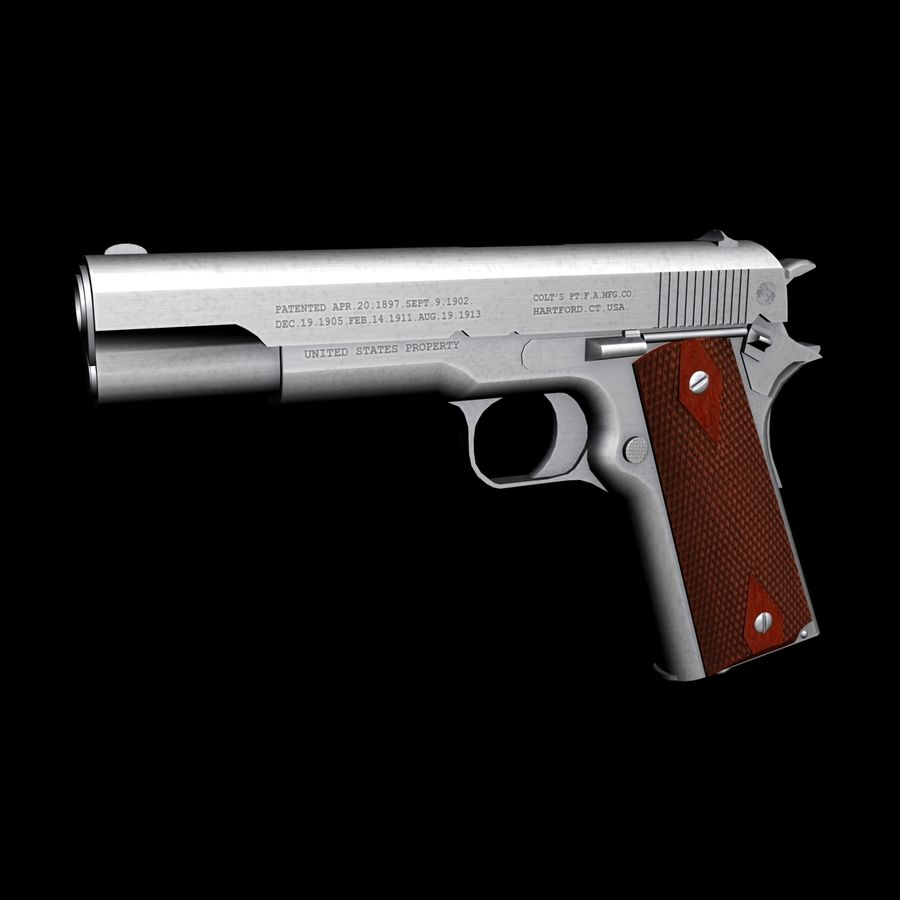 Colt 1911 Pistool royalty-free 3d model - Preview no. 1