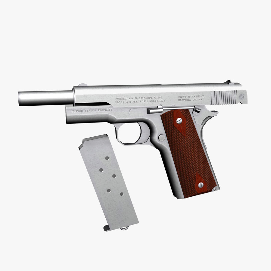 Colt 1911 Pistool royalty-free 3d model - Preview no. 8