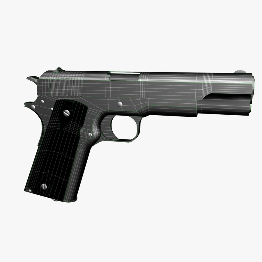 Colt 1911 Pistool royalty-free 3d model - Preview no. 11
