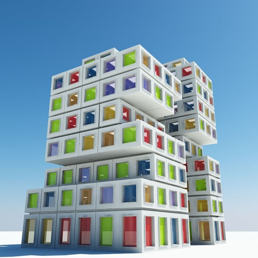 Architecture 022 royalty-free 3d model - Preview no. 5