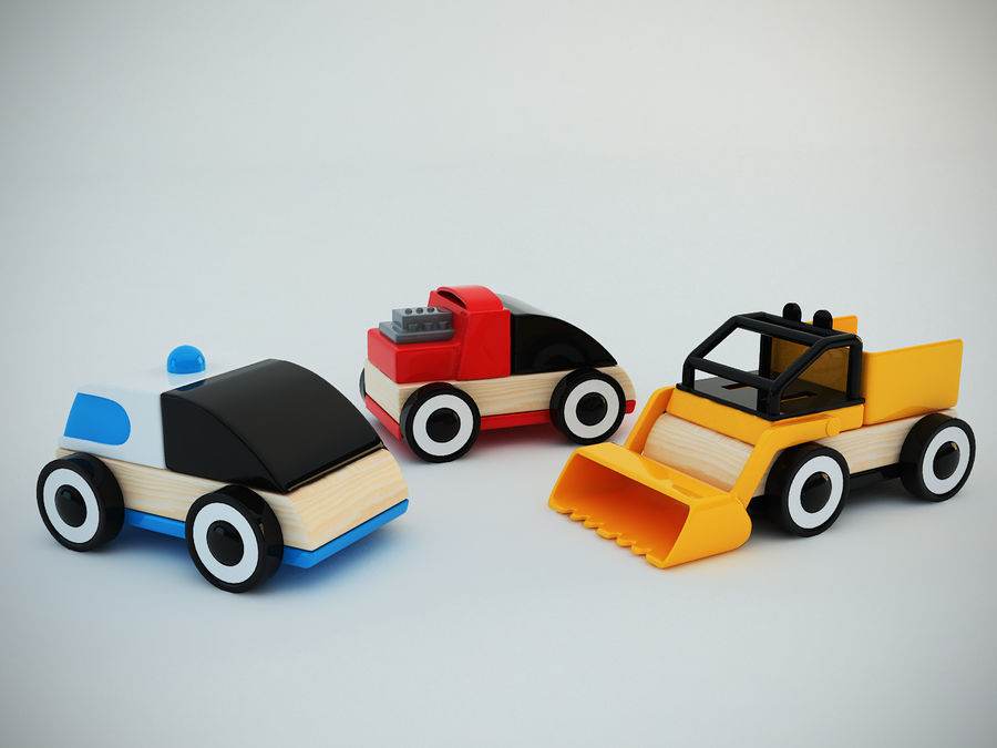 Lillabo Toy vehicle royalty-free 3d model - Preview no. 3