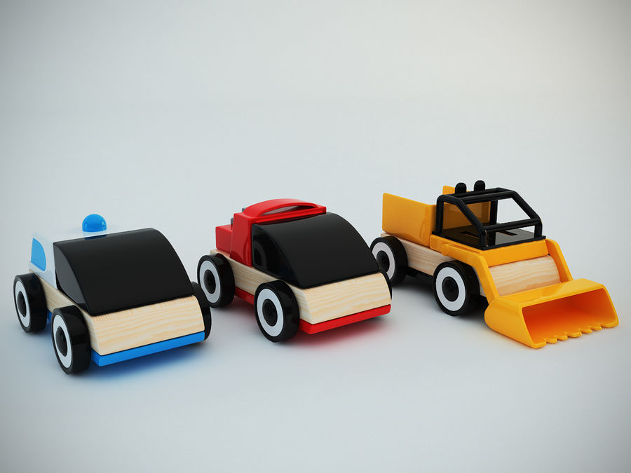 Lillabo Toy vehicle royalty-free 3d model - Preview no. 4