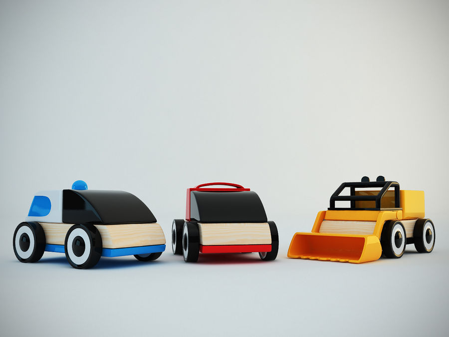 Lillabo Toy vehicle royalty-free 3d model - Preview no. 7