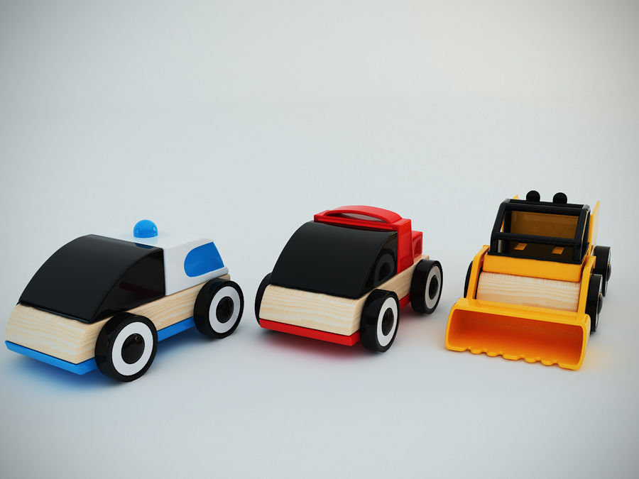 Lillabo Toy vehicle royalty-free 3d model - Preview no. 2
