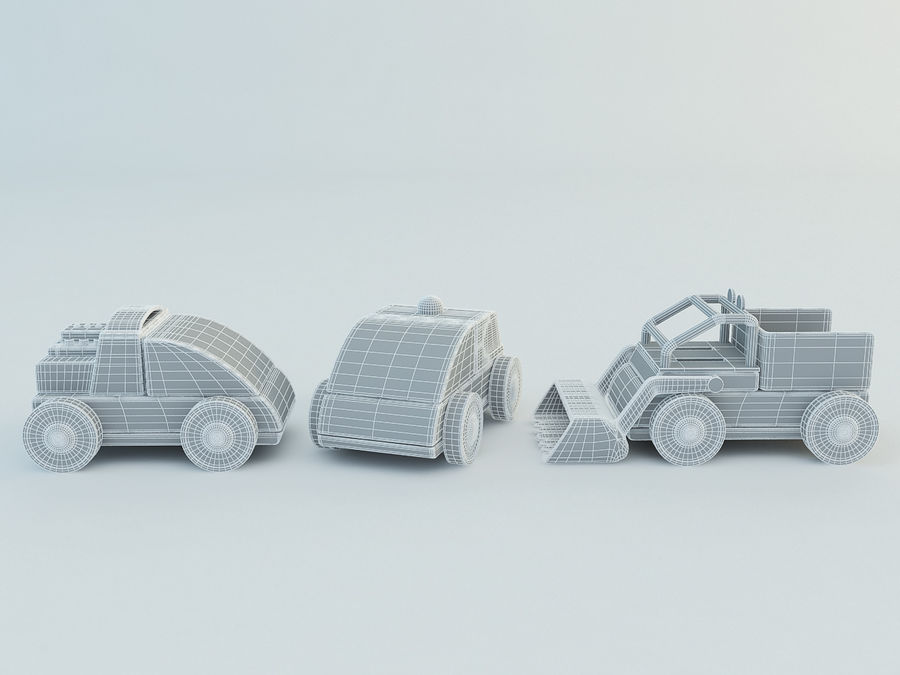 Lillabo Toy vehicle royalty-free 3d model - Preview no. 8