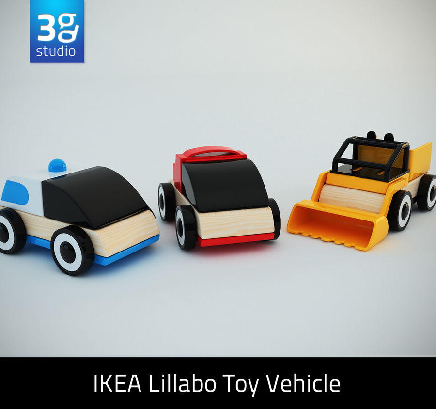 Lillabo Toy vehicle royalty-free 3d model - Preview no. 1