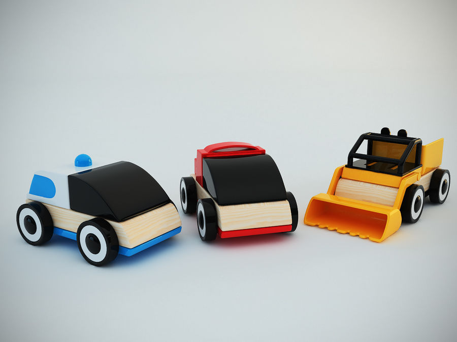 Lillabo Toy vehicle royalty-free 3d model - Preview no. 6