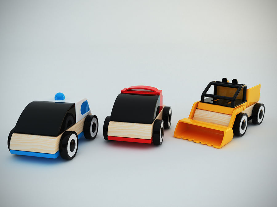 Lillabo Toy vehicle royalty-free 3d model - Preview no. 5