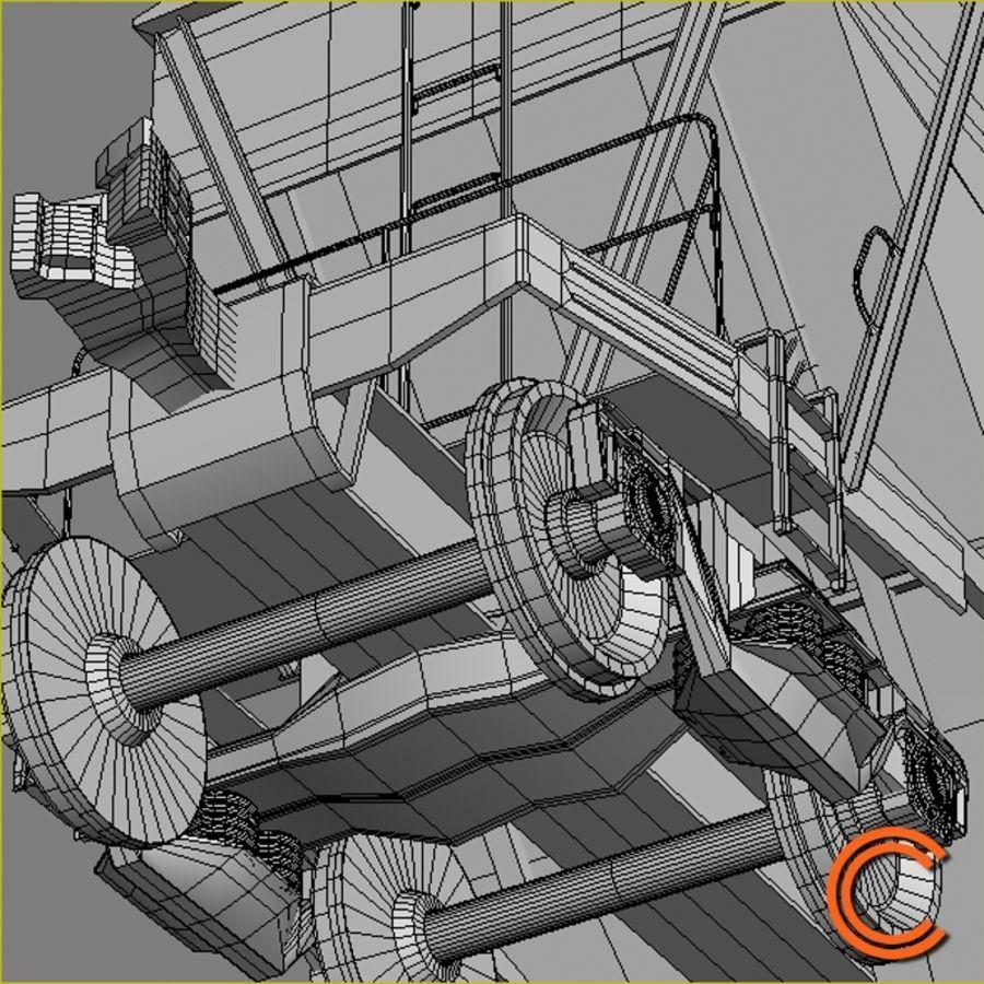 Vagão 2 funil royalty-free 3d model - Preview no. 7