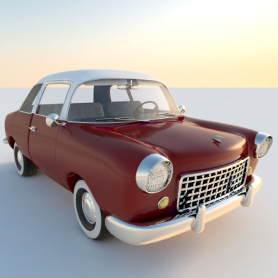 Ретро автомобиль royalty-free 3d model - Preview no. 10