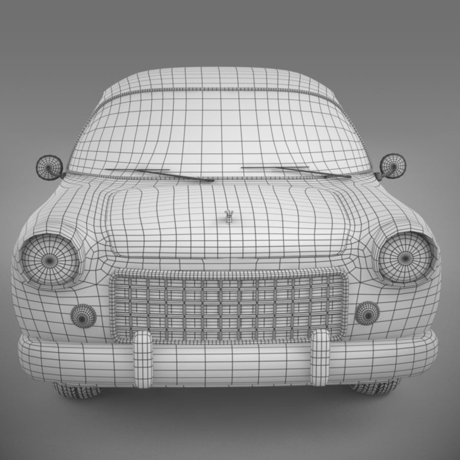 Ретро автомобиль royalty-free 3d model - Preview no. 12