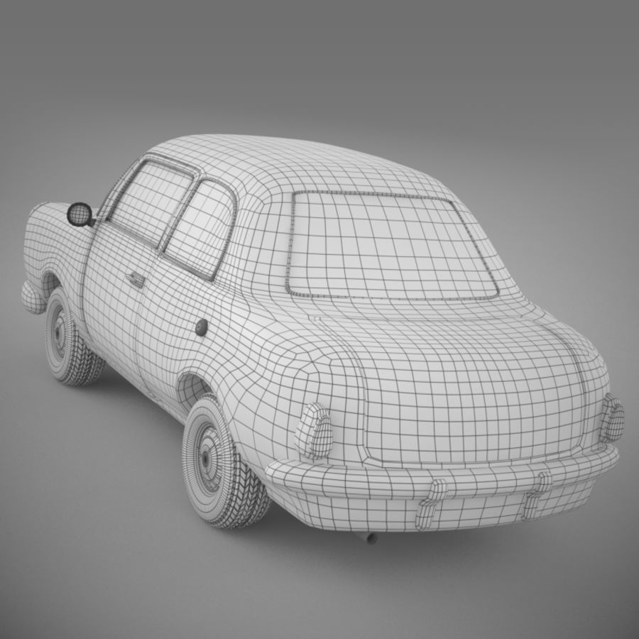Ретро автомобиль royalty-free 3d model - Preview no. 15