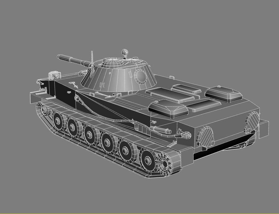 PT-76 Soviet Amphibious Tank Game royalty-free 3d model - Preview no. 20