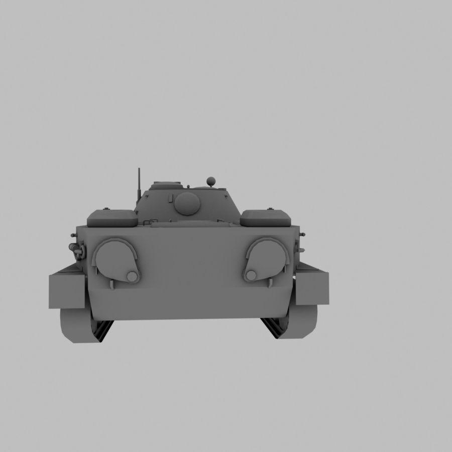 PT-76 Soviet Amphibious Tank Game royalty-free 3d model - Preview no. 6