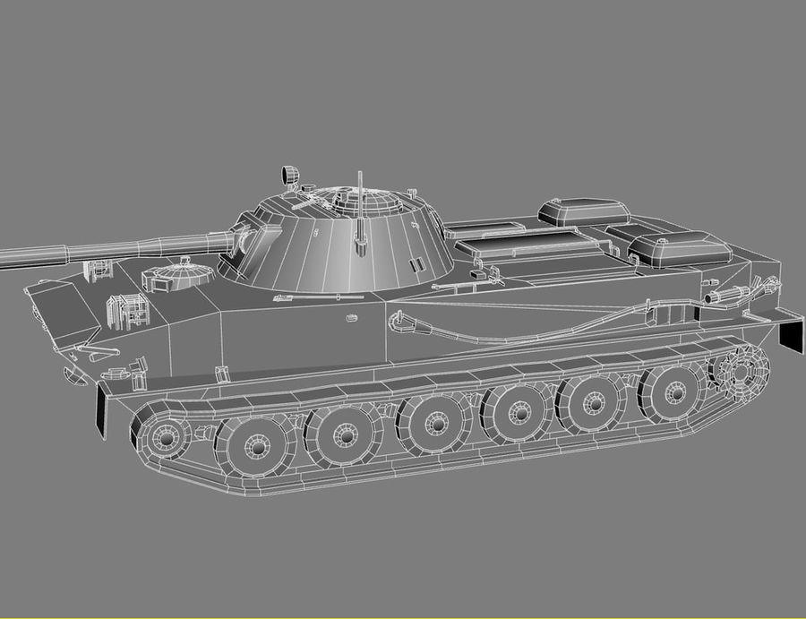 PT-76 Soviet Amphibious Tank Game royalty-free 3d model - Preview no. 21