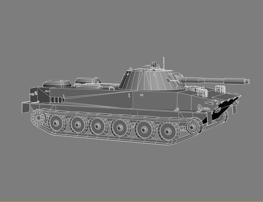 PT-76 Soviet Amphibious Tank Game royalty-free 3d model - Preview no. 17
