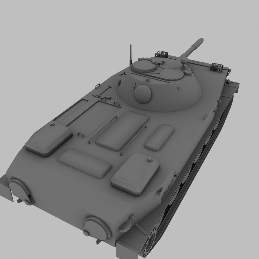 PT-76 Soviet Amphibious Tank Game royalty-free 3d model - Preview no. 12