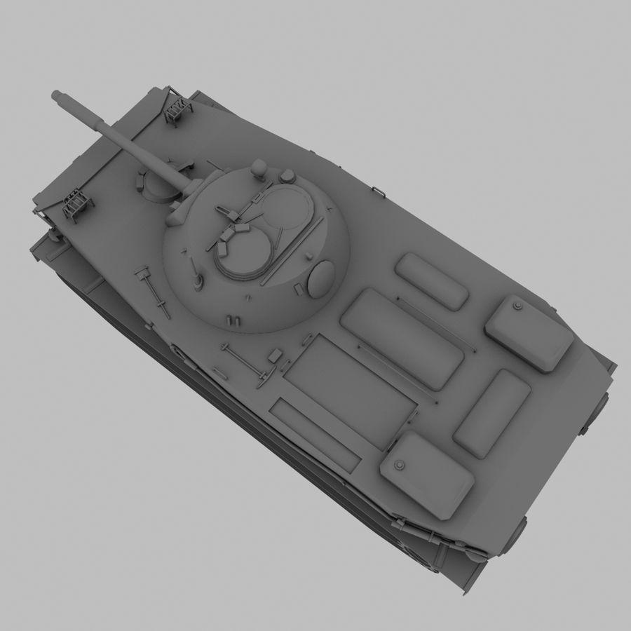 PT-76 Soviet Amphibious Tank Game royalty-free 3d model - Preview no. 13
