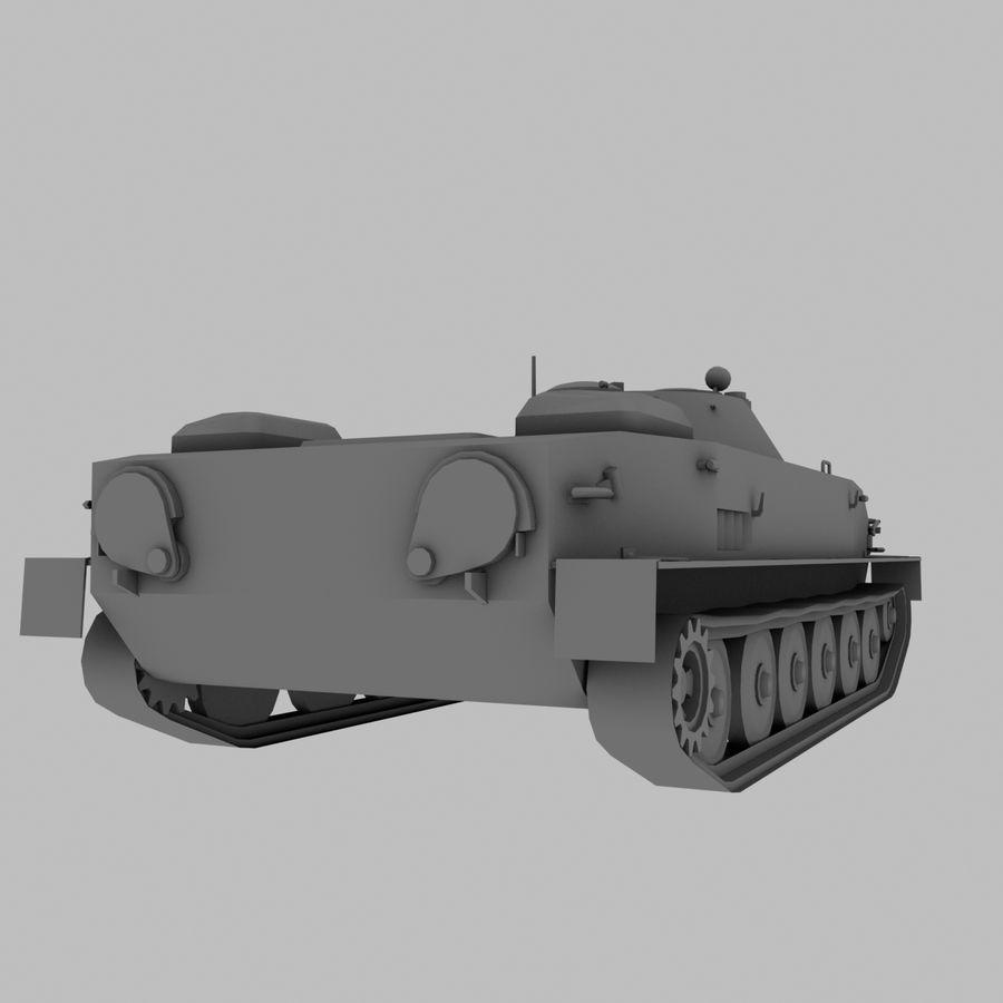 PT-76 Soviet Amphibious Tank Game royalty-free 3d model - Preview no. 7