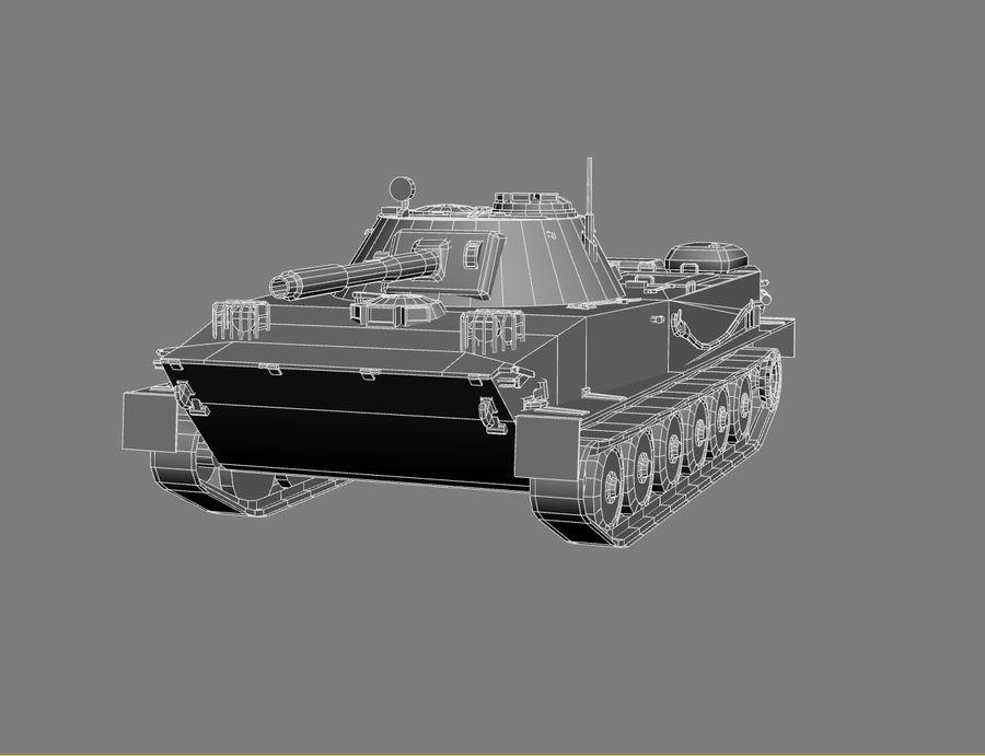 PT-76 Soviet Amphibious Tank Game royalty-free 3d model - Preview no. 15