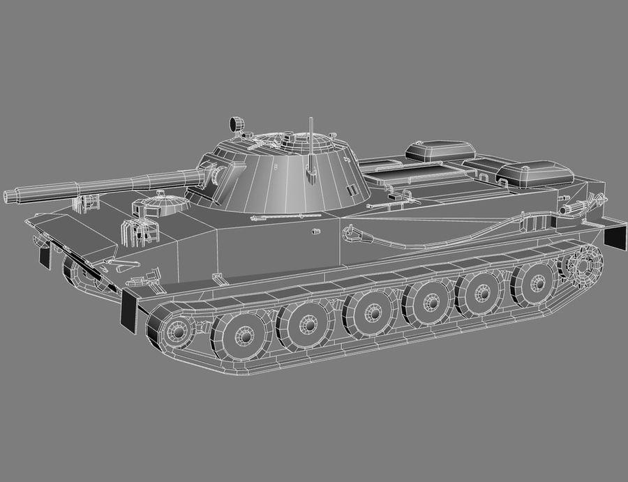 PT-76 Soviet Amphibious Tank Game royalty-free 3d model - Preview no. 14