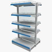 Supermarket Shelf V4 3d model