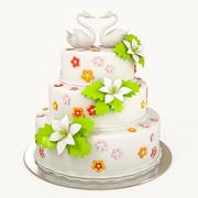 Torta nuziale 3d model
