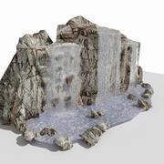 Vattenfall sten 3d model