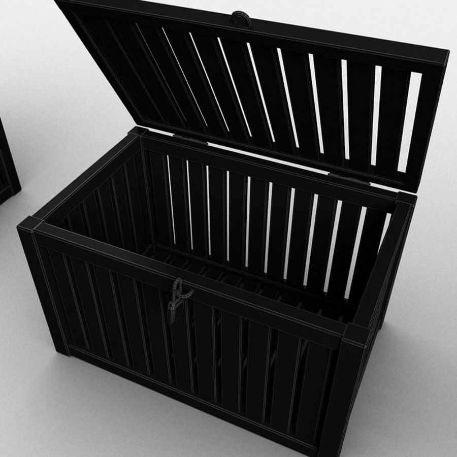 Wooden Trunk Crate Chest royalty-free 3d model - Preview no. 29