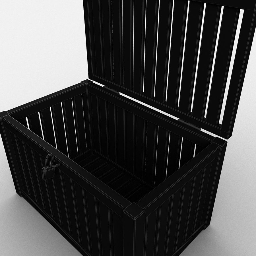 Wooden Trunk Crate Chest royalty-free 3d model - Preview no. 40