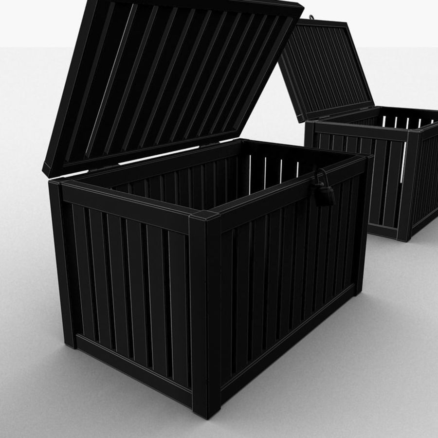 Wooden Trunk Crate Chest royalty-free 3d model - Preview no. 47