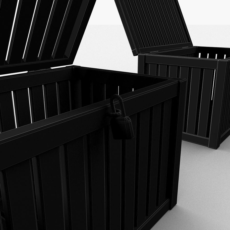 Wooden Trunk Crate Chest royalty-free 3d model - Preview no. 36