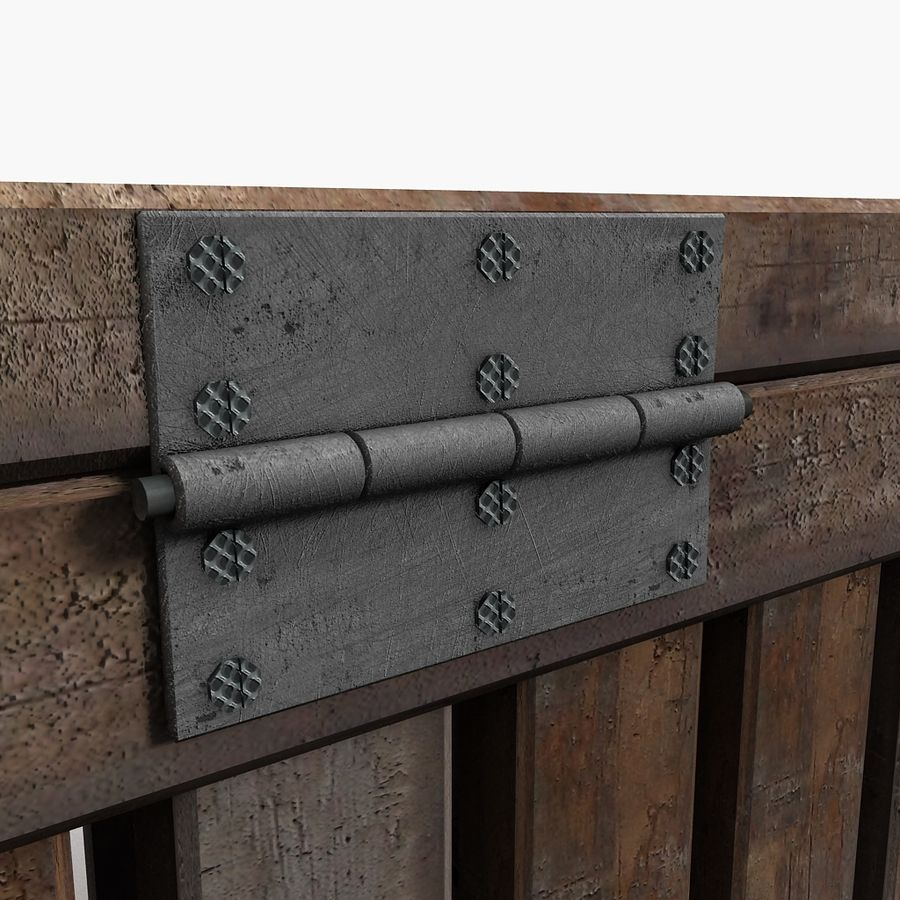 Wooden Trunk Crate Chest royalty-free 3d model - Preview no. 13