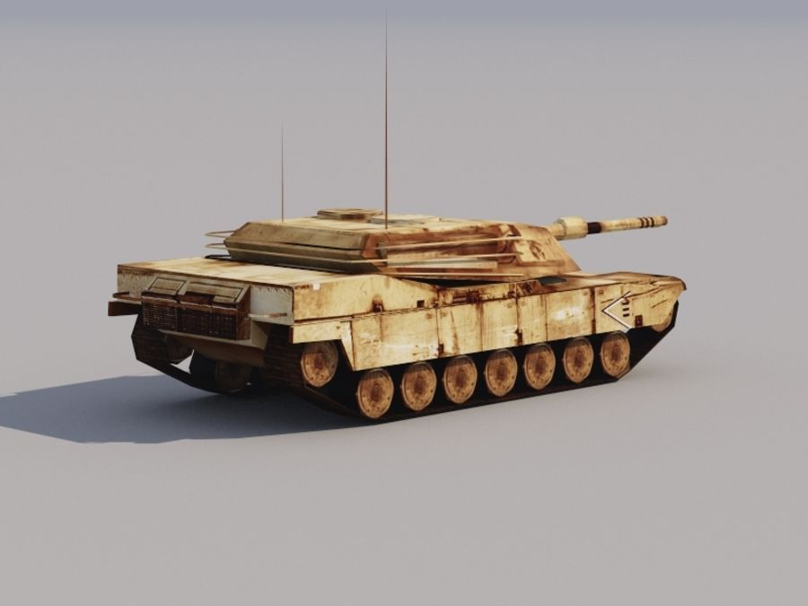 3D düşük poli Abrams royalty-free 3d model - Preview no. 2