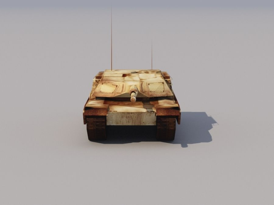 3D düşük poli Abrams royalty-free 3d model - Preview no. 4