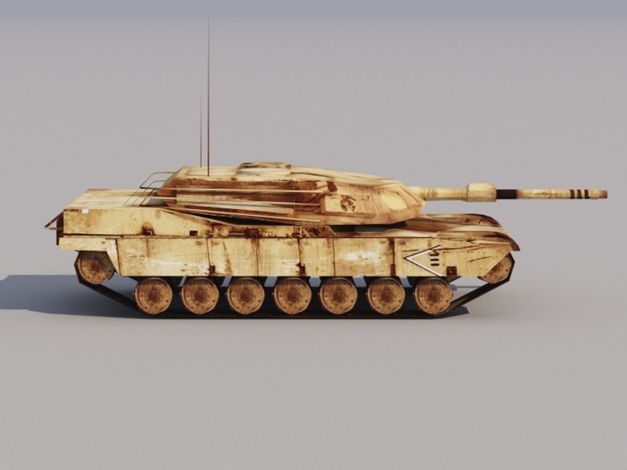 3D düşük poli Abrams royalty-free 3d model - Preview no. 1