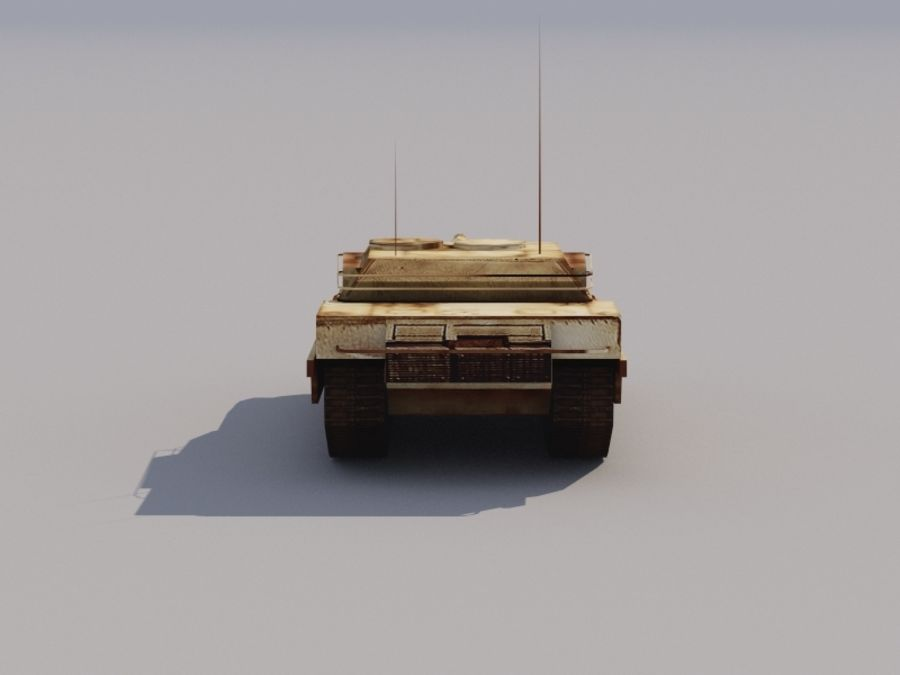 3D düşük poli Abrams royalty-free 3d model - Preview no. 3