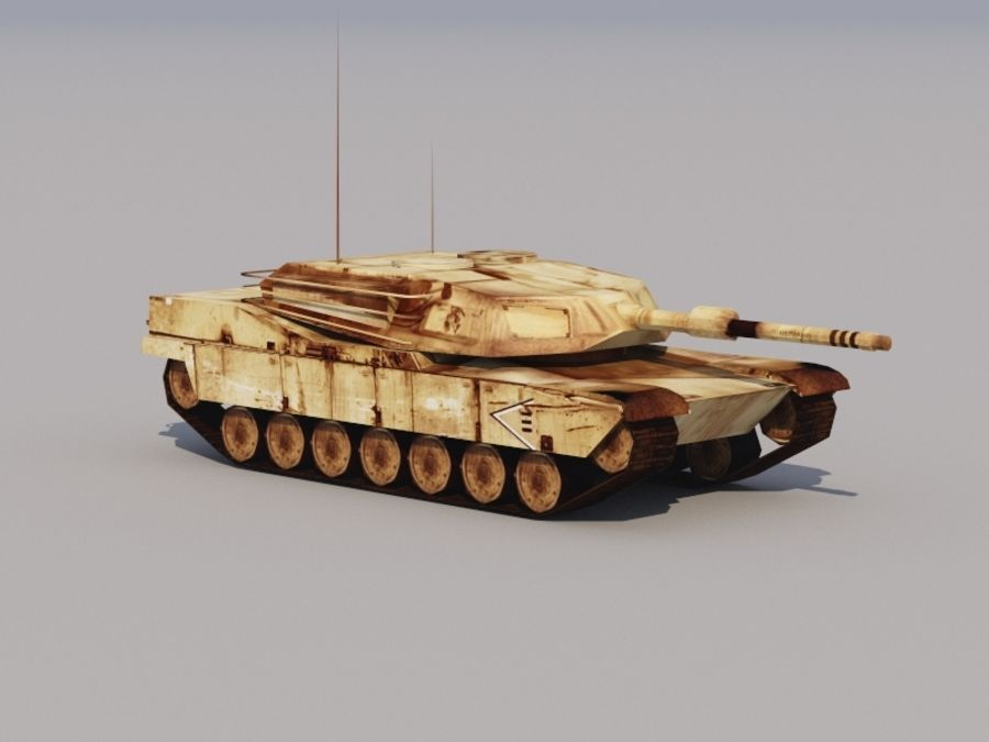3D düşük poli Abrams royalty-free 3d model - Preview no. 5
