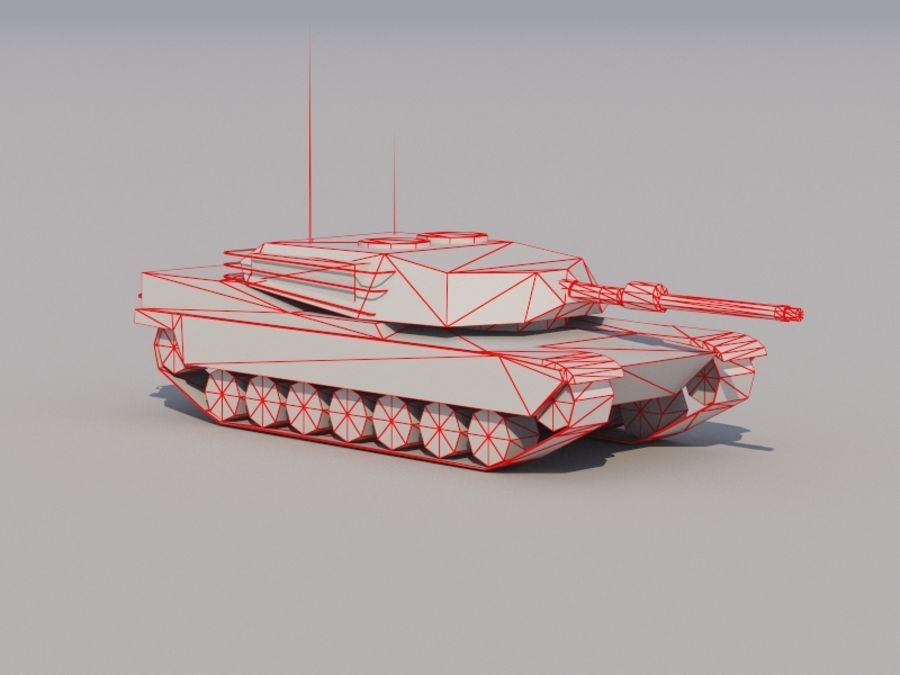 3D düşük poli Abrams royalty-free 3d model - Preview no. 6