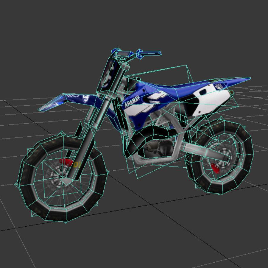 låg poly smuts cykel 03 royalty-free 3d model - Preview no. 6