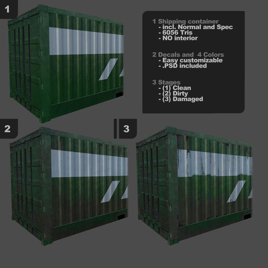 Nakliye Konteyneri (Oyuna Hazır) royalty-free 3d model - Preview no. 3