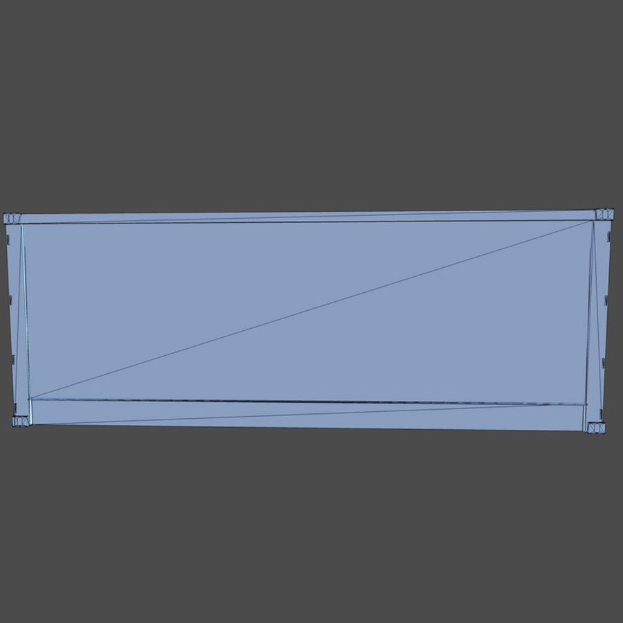 Nakliye Konteyneri (Oyuna Hazır) royalty-free 3d model - Preview no. 9