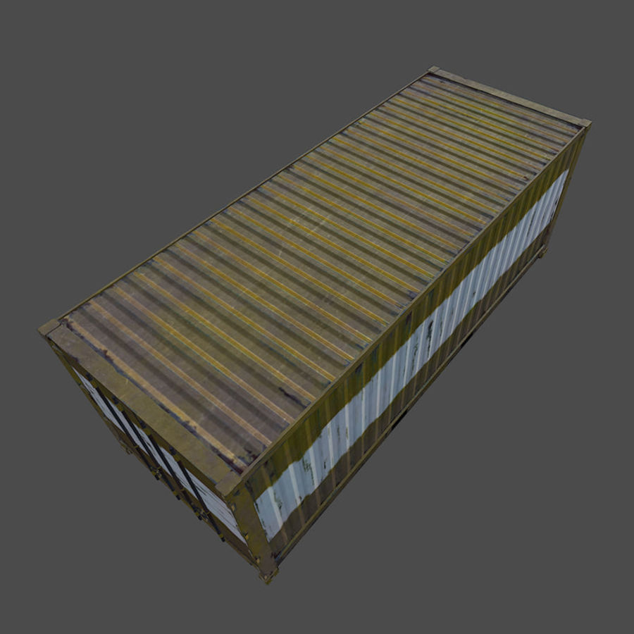 Nakliye Konteyneri (Oyuna Hazır) royalty-free 3d model - Preview no. 6